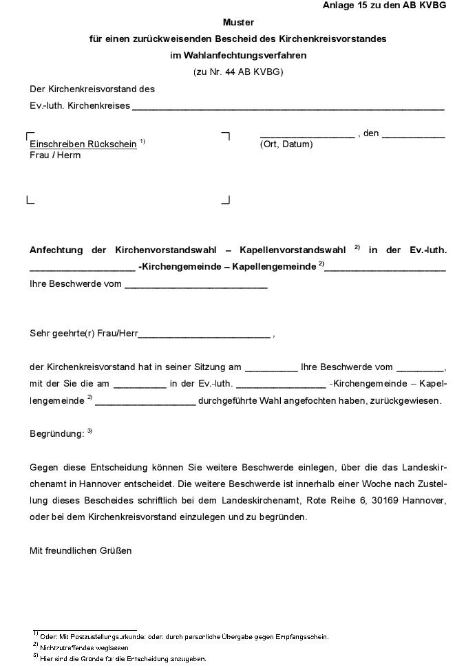 12 2 Kirchenvorstandsbildungsgesetz Ausfuhrungsbestimmungen Ab Kvbg Kirchenrecht Online Nachschlagewerk
